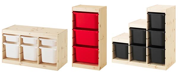 おしゃれな収納ボックス「TROFAST 収納コンビネーション」の画像