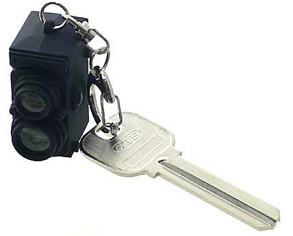 LED KEYRING VINTAGE CAMERA