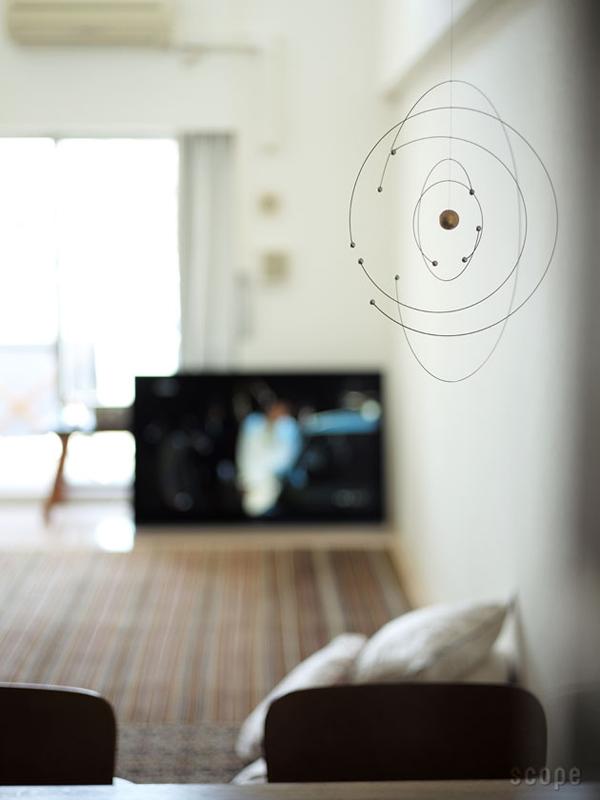おしゃれな北欧モビール「Niels Bohr Atom Model Mobile」の画像