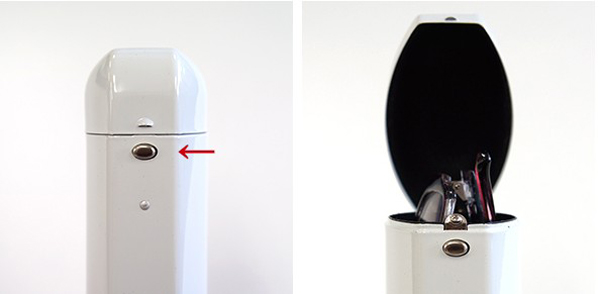 フタを開けるボタン部分の画像