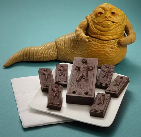 ハン・ソロの製氷皿で作ったチョコレートの画像