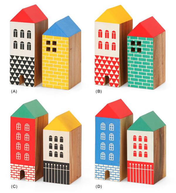 4セットのHOUSE BOOK ENDを並べた画像