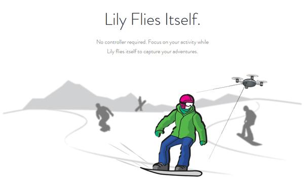 Lilyが追従撮影しているイメージイラスト