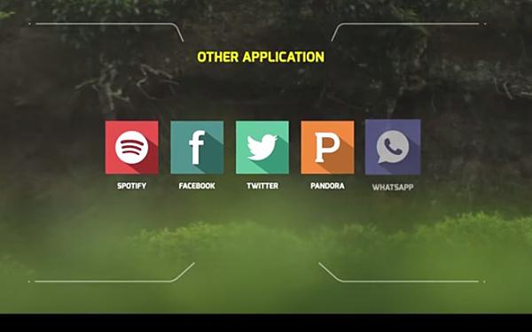 Explorideの各種アプリを表示している画像