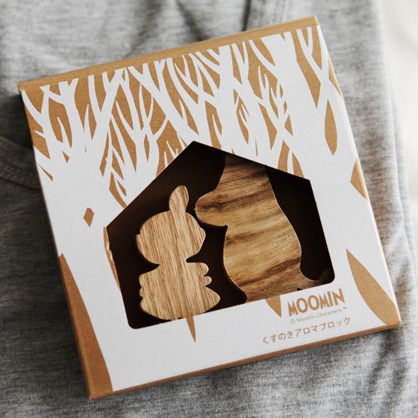 くすのきアロマブロック ムーミンのパッケージの画像