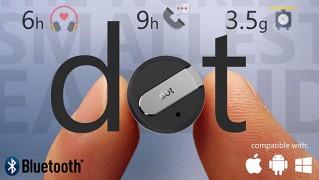 極小ハンズフリーイヤホン「dot」の画像