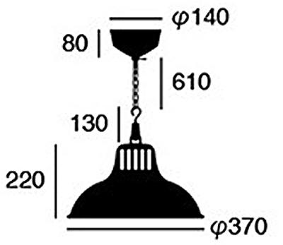 Union pendantの寸法が入っている画像