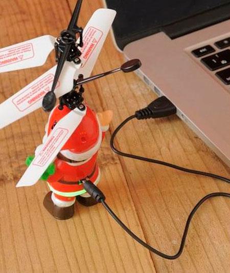 USBで充電している画像
