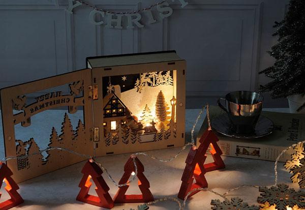 可愛いクリスマスディスプレイの画像