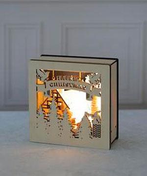 LEDライトブックフレームのライトを点灯した画像