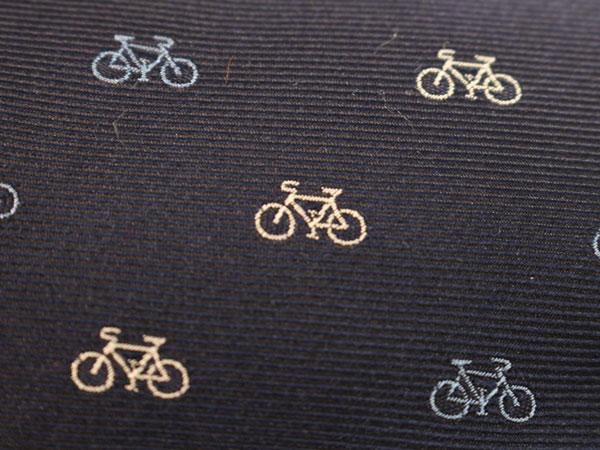 自転車柄の拡大画像