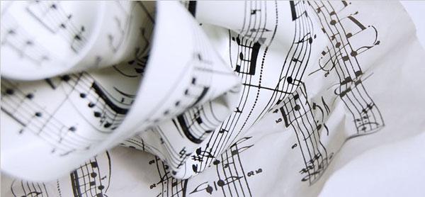 楽譜デザインのペーパーウェイトの画像