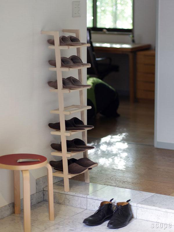 7段のSIDE BY SIDE Shoe Rackをスリッパラックとして使っている画像