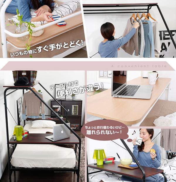 ベッドの機能を説明した画像