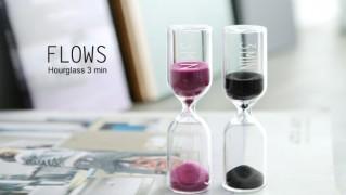 おしゃれ砂時計「FLOWS Hour glass」