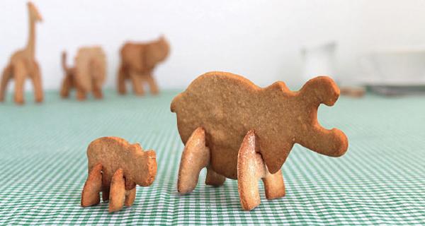 カバの親子の立体クッキーの画像